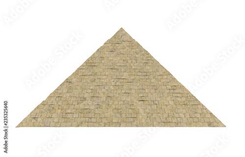 Egipska piramida na białym tle