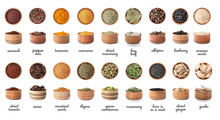 Wooden Bowls With Different Sp...