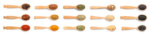 Wooden Spoons With Different S...