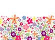 drawing mix of flowers on a white background