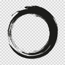 Vector Brush Strokes Circles O...