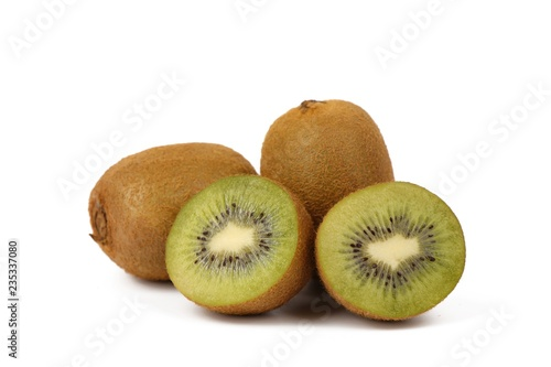kiwi fruit isolated on white - fresh kiwi fruits
