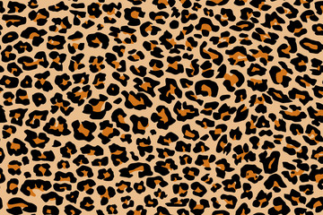 Fototapeta Pantera Print leopard pattern texture repeating seamless orange black