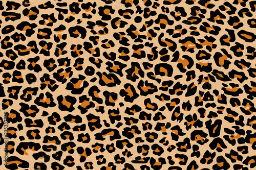 Photographie Print leopard pattern texture repeating seamless orange black