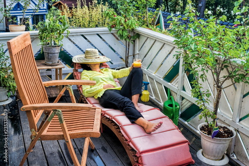 Fototapeta Urlaub auf Balkonien