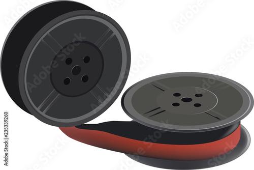 Obraz na plátně nastro bicolore rosso e nero per macchina da scrivere