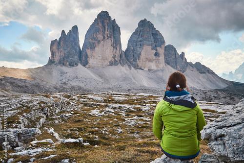 montañas Dolomitas de turismo por Italia, las tres cimas de lavadero, fotos pais Canvas Print
