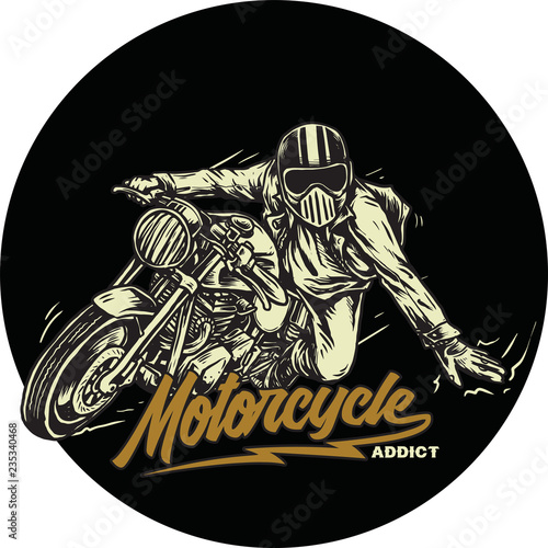 Canvas Print cafer racer motorcycle