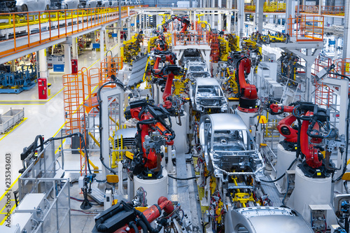Automotive production line Canvas Print