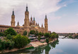 Cathedral-Basilica of Our Lady of the Pillar by the river, Zaragoza, Spain