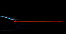 Car Silhouette With Red Light Effect