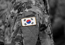 South Korea On Soldiers Arm (c...