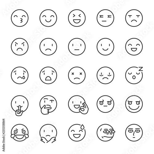 Emoji, icon set Canvas Print