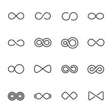 Infinity, Icon Set. Different ...