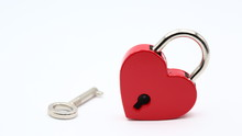 In The White Background  The Love Padlock