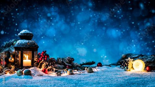Obraz w ramie Christmas background concept.