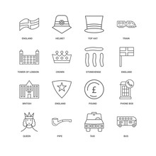 16 Linear Icons Related To Bus...