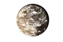 Dark Rock Dead Planet With Atm...