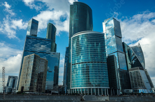 Fotobehang Stad gebouw Building of the Trade and Financial Center Moscow-City, Moscow, Russia