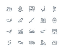 Set Of 20 Outline Icons Such A...