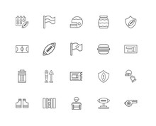 20 Linear Icons Related To Fla...