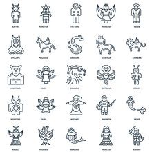 Set Of 25 Universal Editable Icons. Includes Elements Such As Kn