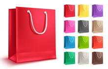 Colorful Shopping Bag Vector S...