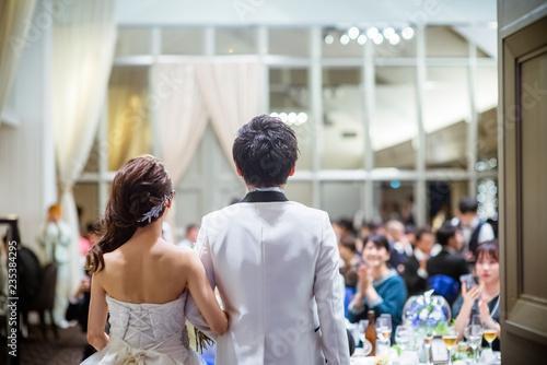 結婚式 Billede på lærred