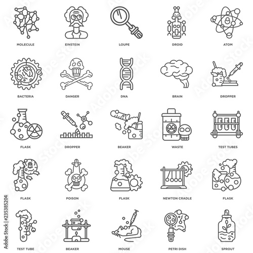 Photo  Simple Set of 25 Vector Line Icon. Contains such Icons as Sprout