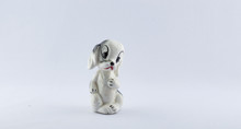 Ceramic White Puppy Dog Salt S...