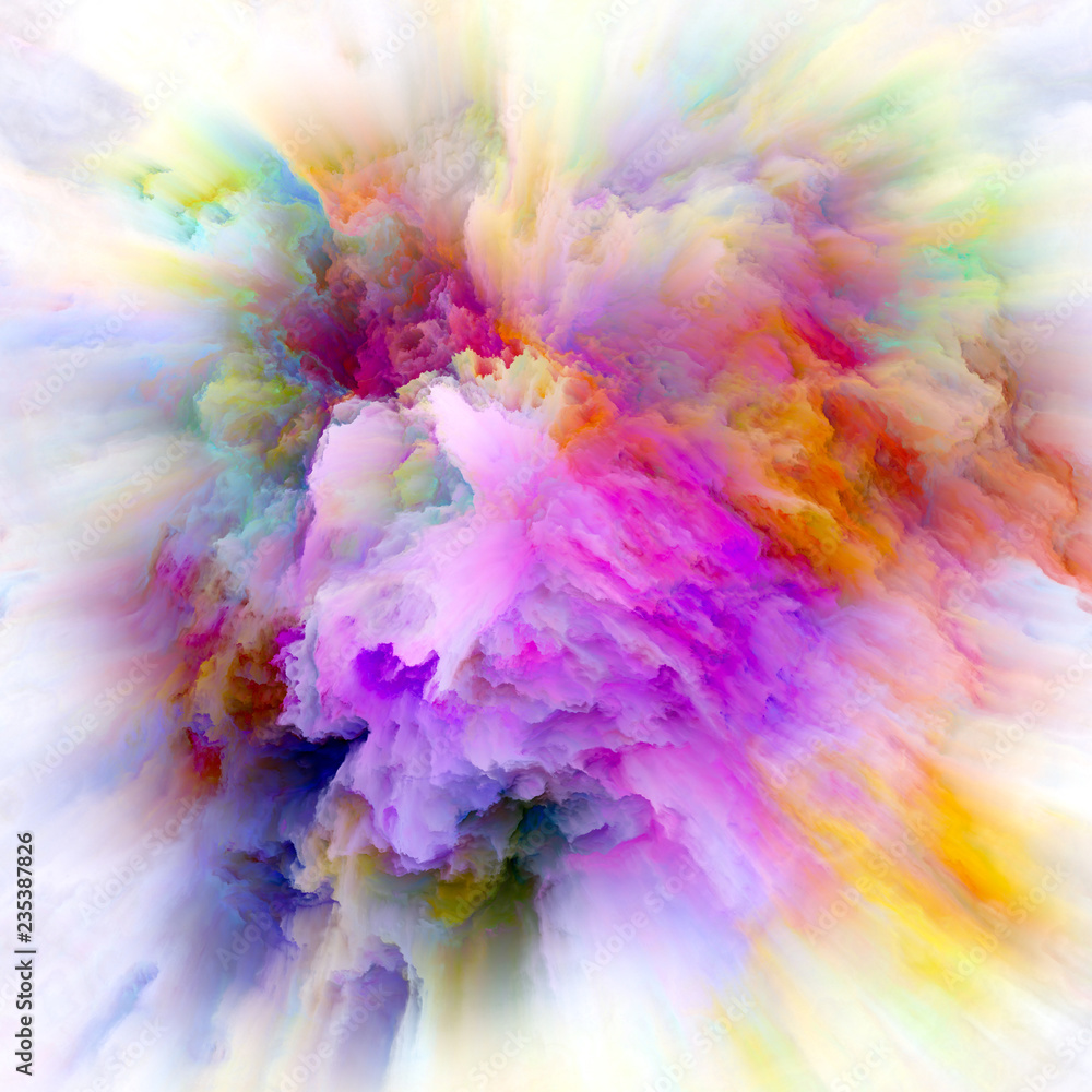Fototapety, obrazy: Digital Life of Colorful Paint Splash Explosion
