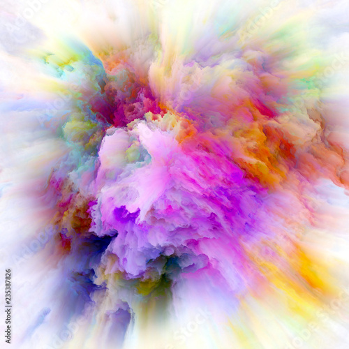 Fototapeta Digital Life of Colorful Paint Splash Explosion obraz
