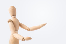 Wooden Mannequin With Welcome Gesture