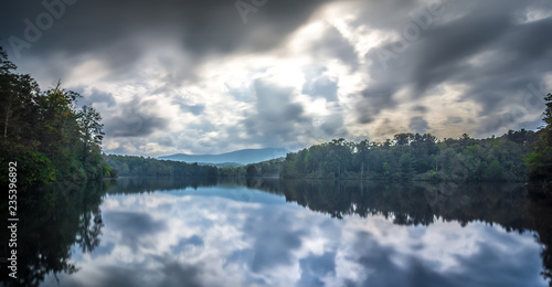 Fototapeta Julian Price Lake, along the Blue Ridge Parkway in North Carolina obraz