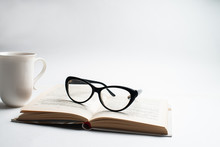 Notebook With Glasses And Pen,...