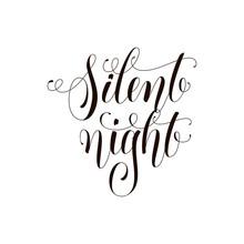 Silent Night Phrase. Greeting ...