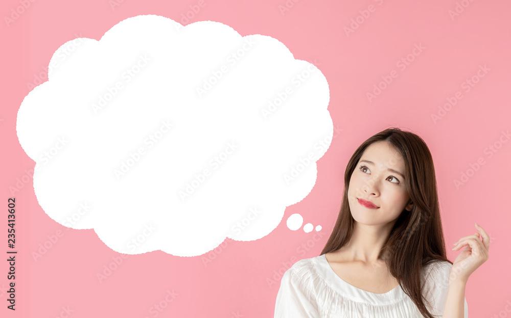 Fototapeta 想像する女性