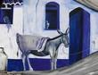 Kunstvoll bemalte  Hausfassade in Portugal