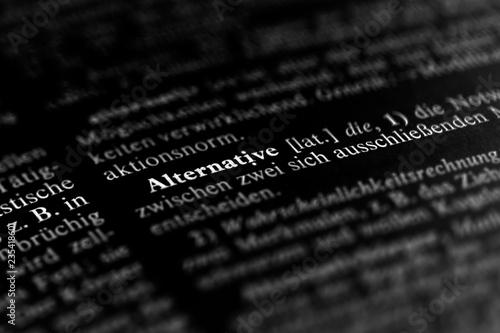 Fotografie, Obraz  Alternative schwarz