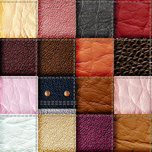 Seamless Leather Patchwork Bac...