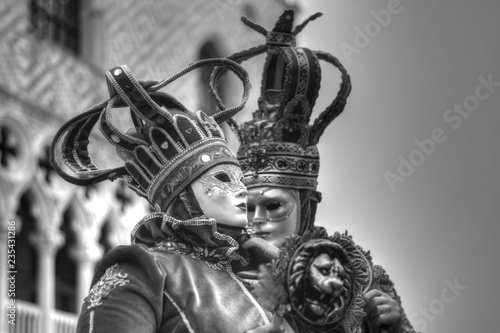 beautiful carnival costumes in Piazza San Marco, Venice