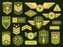 Military Badges. American Army...