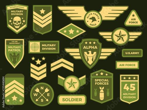 Obraz na plátne Military badges