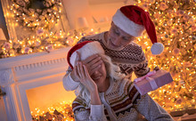 Senior Couple On Christmas