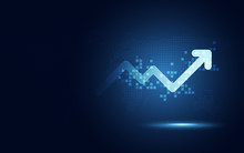 Futuristic Raise Arrow Chart D...