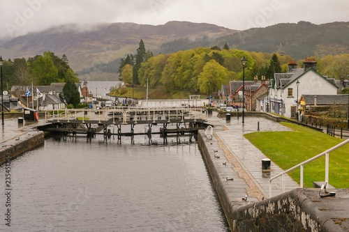 Fotografie, Obraz  Fort Augustus, Caledonian Canal, Inverness Shire