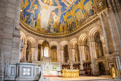 Inside of basilica on Montmartre in Paris Wallpaper Mural