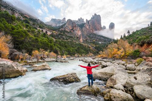 mallos de riglo mountain at Spanish countryside