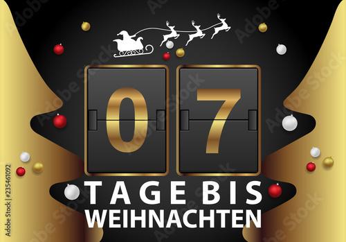 Tage Bis Weihnachten.7 Tage Bis Weihnachten Buy This Stock Vector And Explore Similar