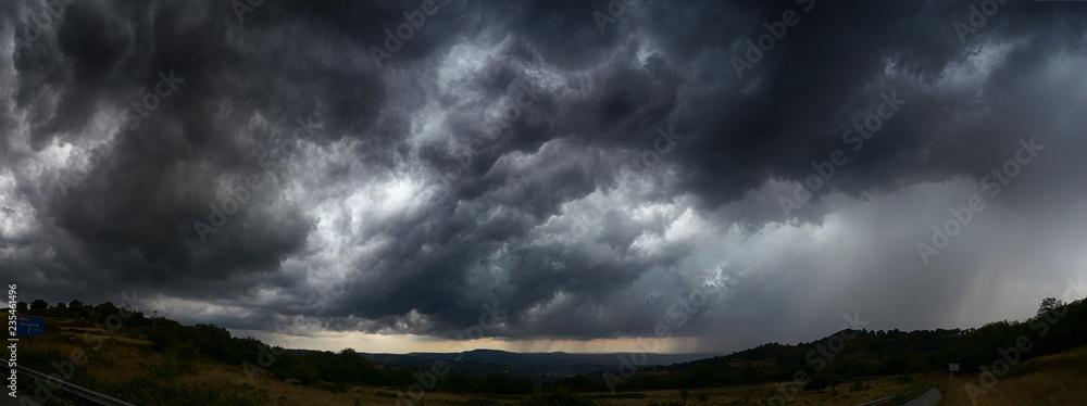 Fototapety, obrazy: sky with storm clouds  dark